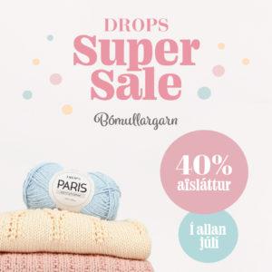 Drops Super Sale Bómullargarn